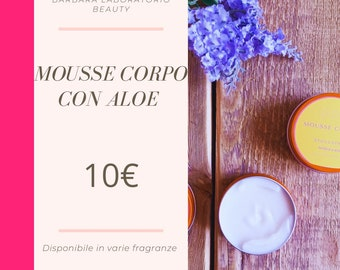 Body mousse with aloe