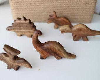 Dinosaur Wooden Toy Set dinosaur Diplodocus Triceratops Tyrannosaurus rex Waldorf toys Play Set, Organic Wood Toys, dinosaur Wooden Play