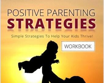 Printable Positive Parenting Strategies Workbook, Printable Books, Self Help Books, Parenting Guide
