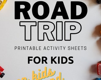 Road Trip Activity Pack, Travel Activities For Kids, Road Trip Games, Road Trip Printable Games, Travel Activity Kit, Kids Packing List, Car