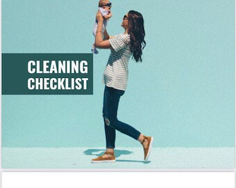 The Productive Mom Printable Cleaning Checklist, Mom's Daily Housework Task Sheet, Weekly Chore Planner