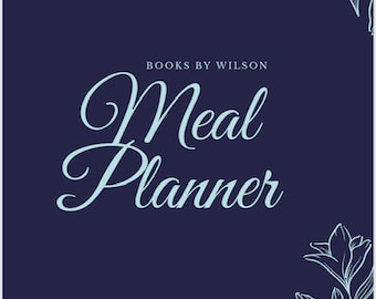 Printable Meal Planner, Diet & Nutrition Tracker, Weekly Meal Agendas, Instant Download