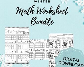 Math Worksheets, Printable Worksheets, Homeschool, Math Printable, Math Bundle, Math, Teacher Printable, Lesson Plans, Montessori, Kumon