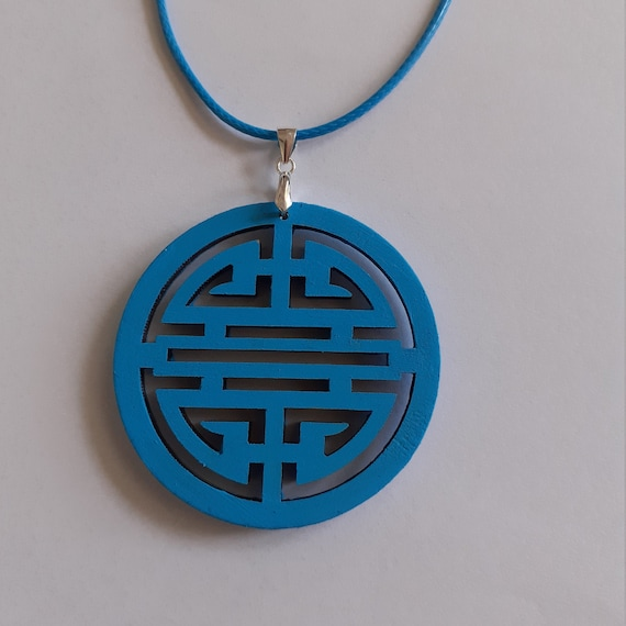 one of a kind gift for mom FREE shipping Adjustable length Geometric pendant Polymer clay Art handmade necklace for her