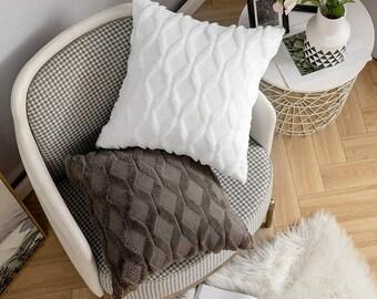 Fluffy pillowcase Modern pillowcase super soft decorative cushion BOHO Size: 40x40 45x45 30 x 50 cm