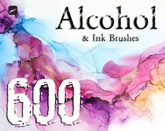 600+ Procreate Ink Brushes - Ink Brush, Alcohol Inks, Asia Ink Brushes, Ink Watercolor, Splatter Ink Brushes, Ink Stamp, Ink Roller