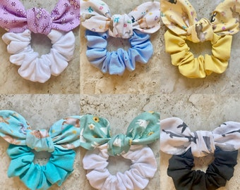 Clothe Your Mouth Scrunchies, Easter Bunnet, Bunny Scrunchies, mask and scrunchies sets, bunny love, bunny bows, some bunny to love