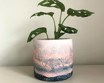 Flamingo Floral Small Ceramic Indoor 10cm House Plant Pot Holder Cover Planter