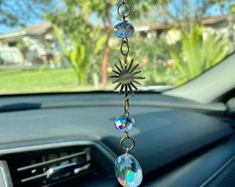 Cactus Suncatcher Window Decor Car Home Office Charm Rearview Rear View Mirror Car Charm Mobile Topaz Aurora Borealis Crystal