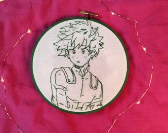 My Hero Academia Midoriya Izuku Embroidery File BNHA Deku Machine Embroider Christmas Reindeer Machine Embroidery Anime Embroidery File