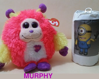 """Ty Beanie MONSTAZ: The 6""""  MURPHY -Sound not Working Excellent Condition with Swing Tag."""