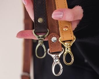 """TopTie Shoulder Bag Purse Strap Leather Replacement Strap Black 21/""""-23/"""" L"""
