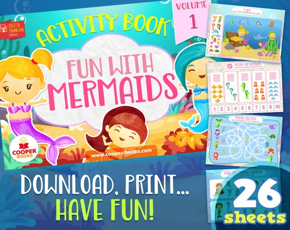 Mermaids Busy book  Volume 1  Download and Print Activity