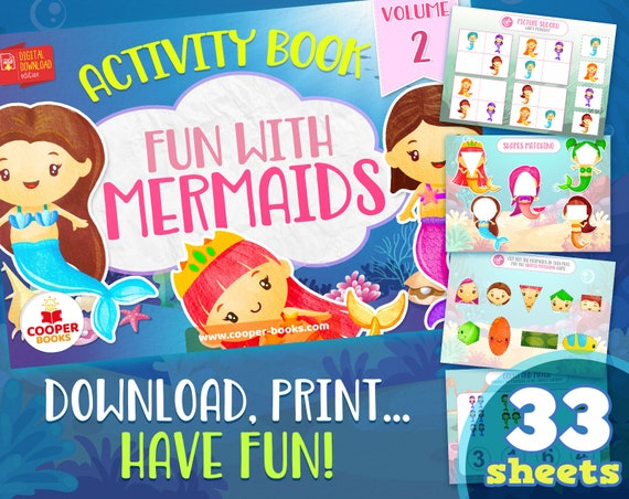Mermaids Busy book  Volume 2  Download and Print Activity
