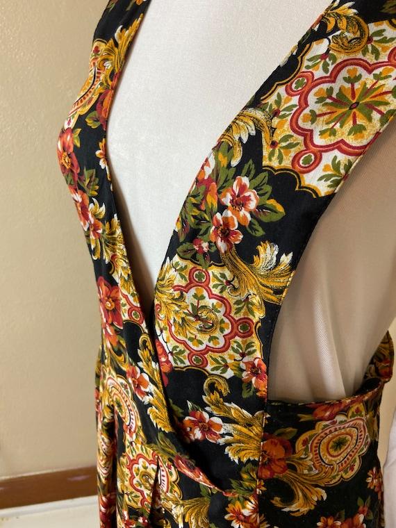Vintage cottagecore Floral Apron Dress - image 6