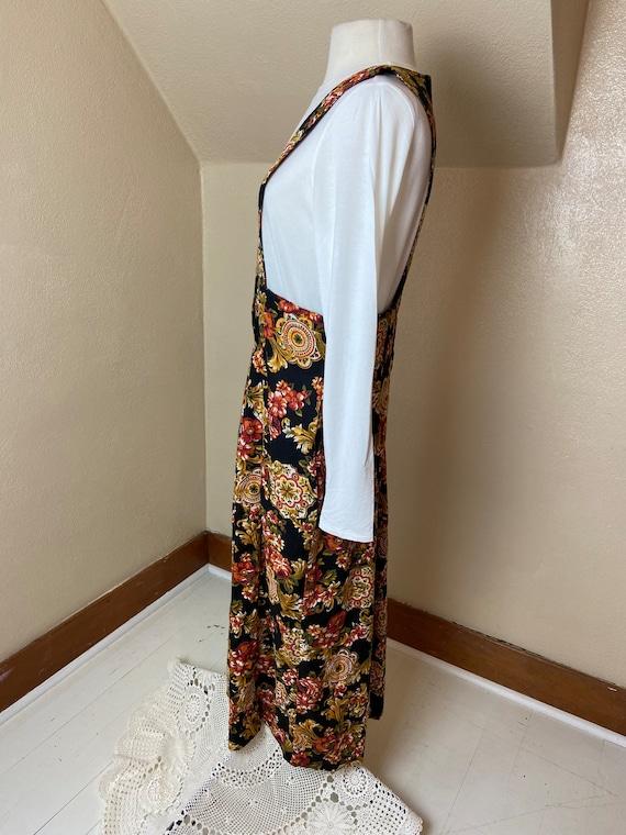 Vintage cottagecore Floral Apron Dress - image 2