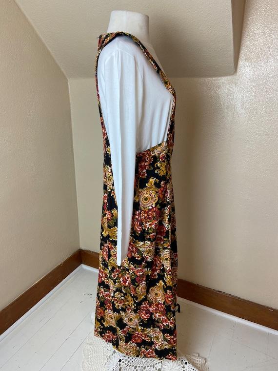 Vintage cottagecore Floral Apron Dress - image 3
