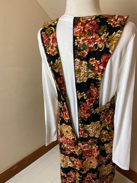 Vintage cottagecore Floral Apron Dress - image 10
