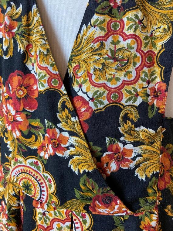 Vintage cottagecore Floral Apron Dress - image 5