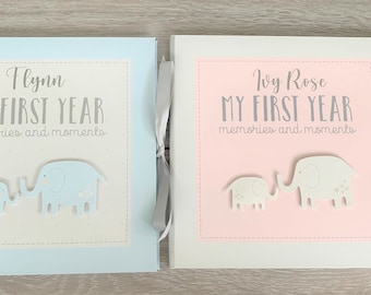 Baby Record Book   Baby Boy Baby Girl Personalised Petit Cheri My First Year Memory Book   Baby Book    Baby Photo Book