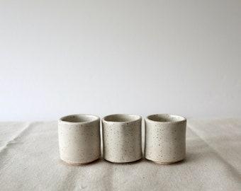 Handmade ceramic sake cups