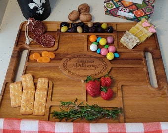 Wood Charcuterie  Serving Tray Personalized, Custom House Warming Wood Gift ,Charcuterie Wooden Table, Custom Prep And Serving Boards