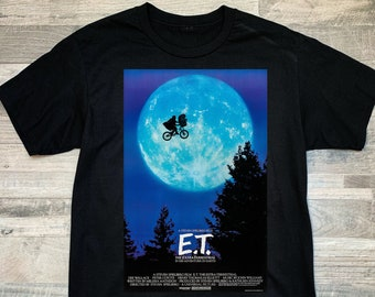 The Extra Terrestrial Alien Officially Licensed Moon Frame Adult Unisex Short Sleeve T-Shirt E.T.\u2122 Movie Shirt