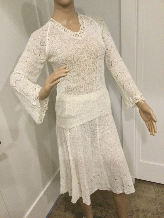 30s M Knit Top & Skirt Perfect