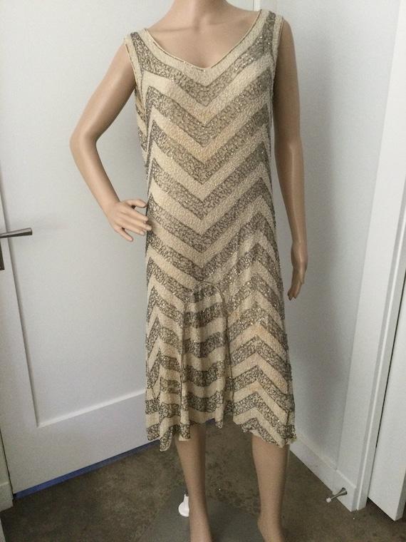 20s Beaded Dress S
