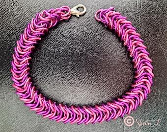 Pinkalicious! Pink, Fuchsia, box weave, chainmail