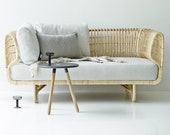 Rattan Daybed, Rattan Furniture, Rattan Sofa Chair, Rattan relaxation chair, Rattan Furniture family living room