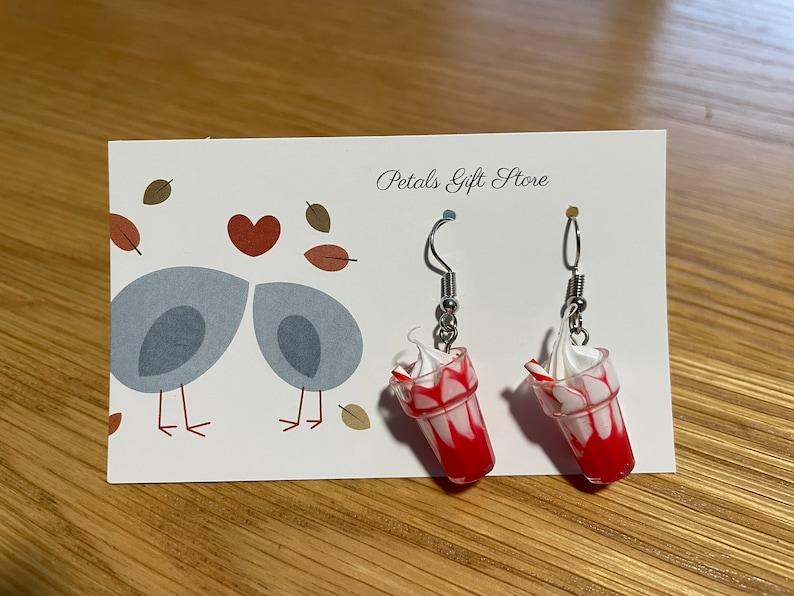 Cute Funky Strawberry or Chocolate Sundae Earrings