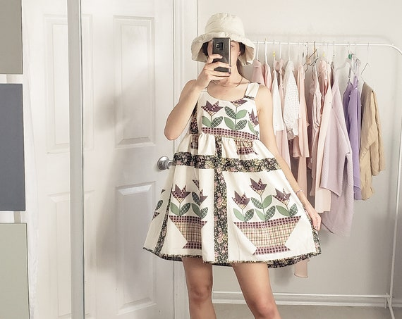 Cream and floral baby doll dress-S/M