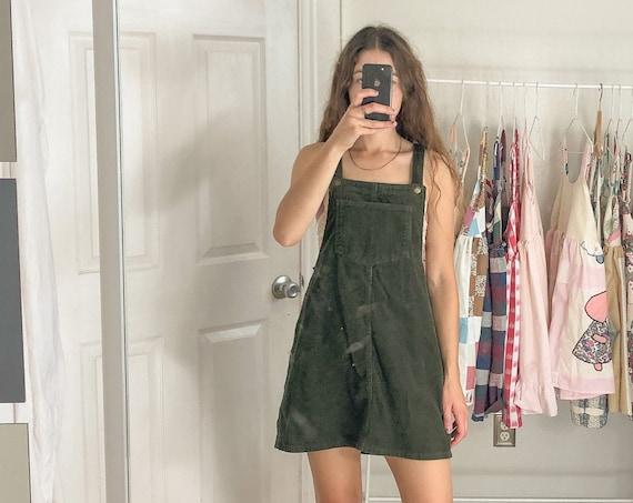 Corduroy Jumper Dress-Large