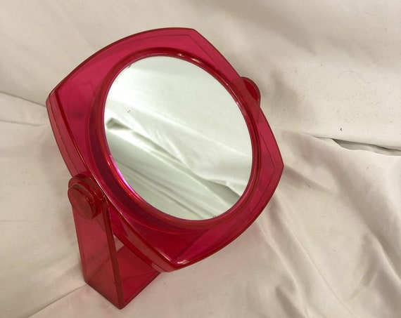Vintage Pink Round Double Sided Mirror