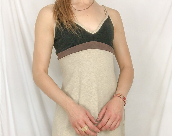 Vintage Tan Dress-Medium