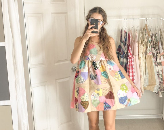 Quilted Babydoll Dress-Small