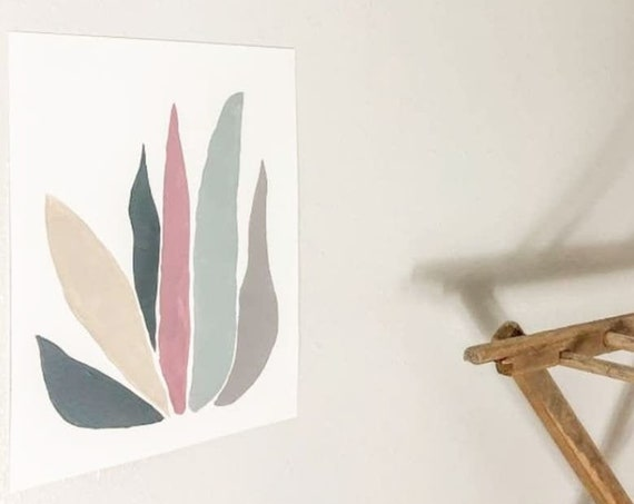 Colorful Abstract Plant Print