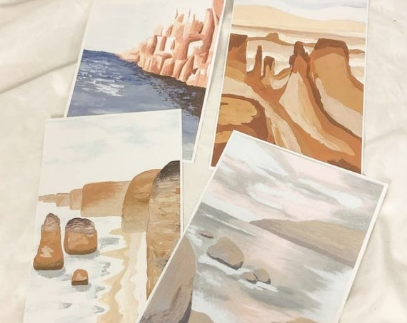 Set of 4 landscape prints