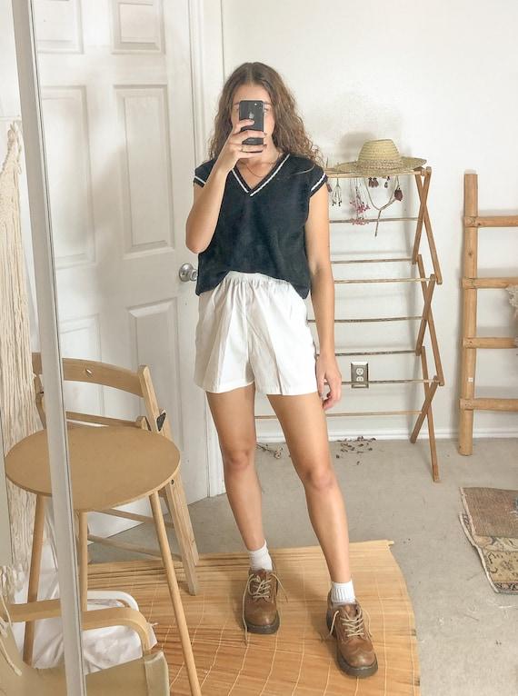 Vintage White Shorts-Small