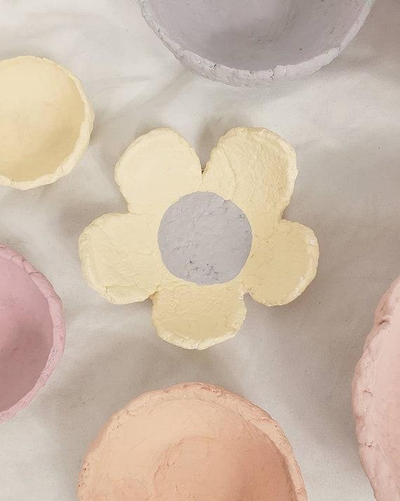 Paper Mache Flower Catchall Jewelry Tray