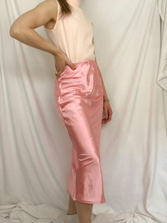 Pink high waist skirt-Medium