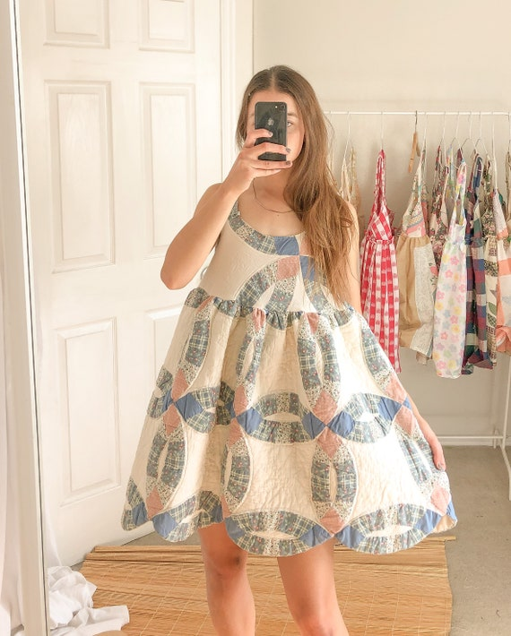 quilted patchwork Summer Dress-One Size