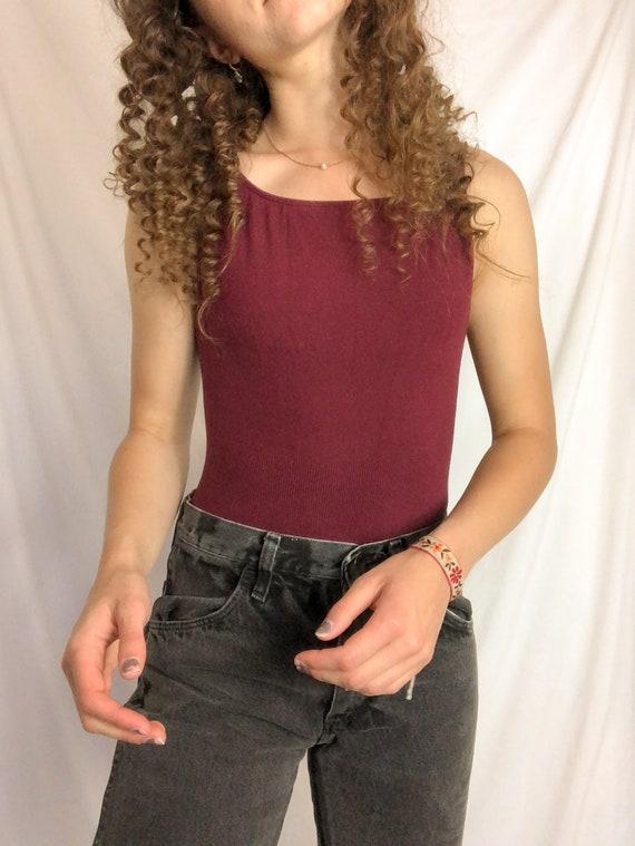 Vintage Maroon Bodysuit-Medium
