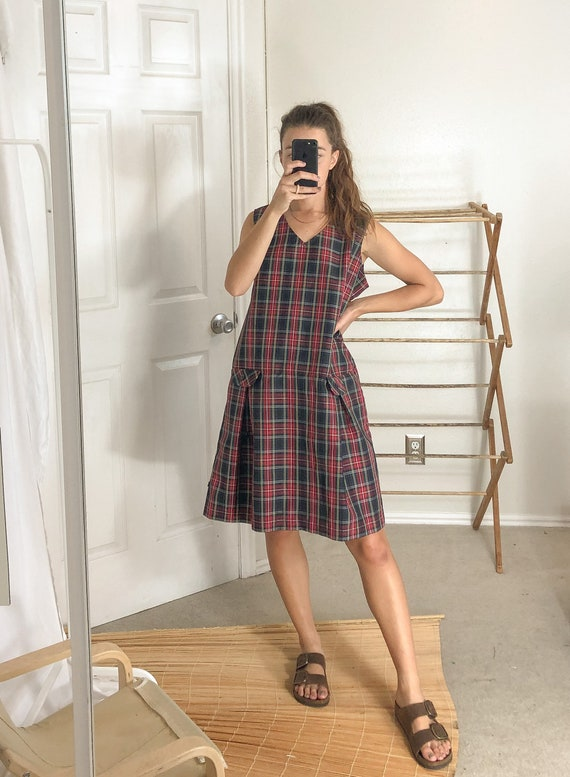 Vintage Plaid Dress-Large