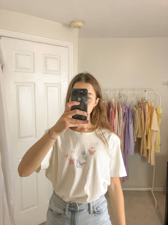Vintage Butterfly Tee-Large