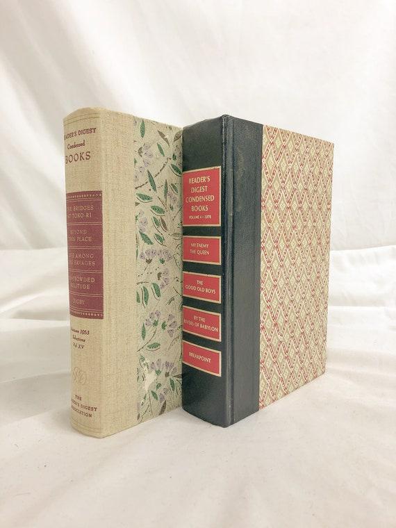 Vintage set of 2 readers digest books