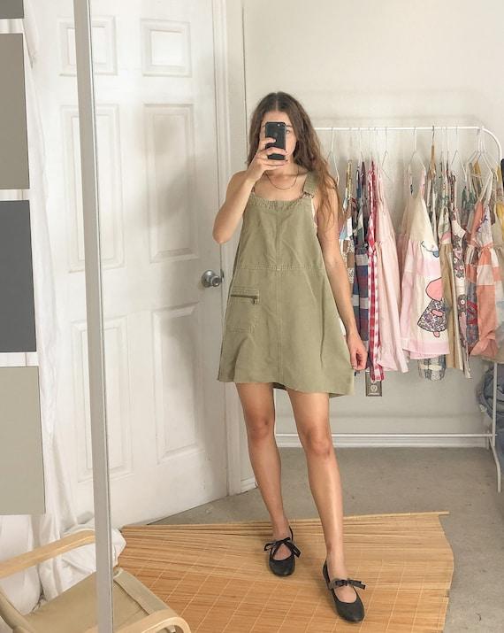 Vintage Dress Overall Mini Jumper-Large