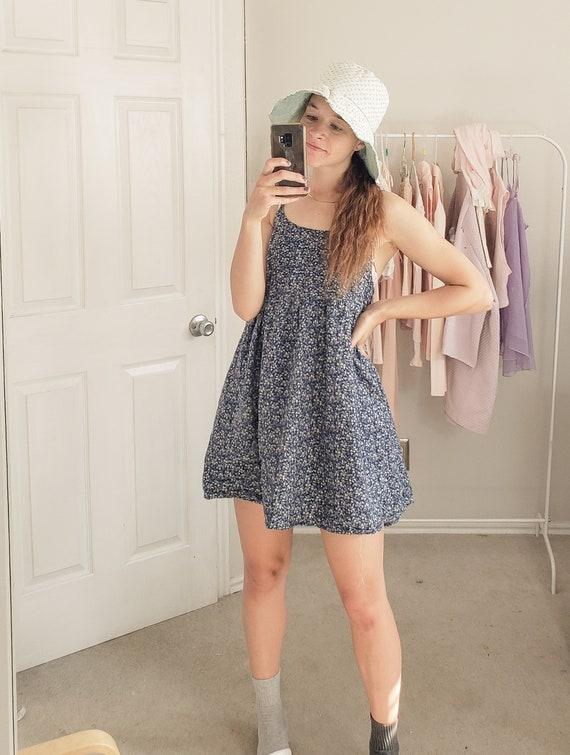 Navy Babydoll Dress-Small