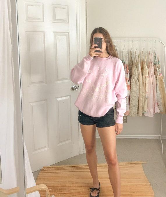 Vintage Pink Sweatshirt-XL